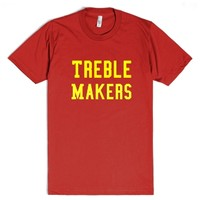 Treble Makers-Unisex Red T-Shirt