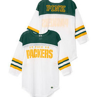Green Bay Packers Long Sleeve Boyfriend Tee - PINK - Victoria's Secret