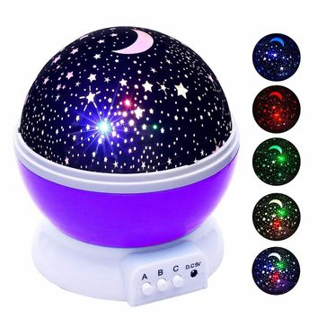 Stars Starry Sky LED Night Light Projector Novelty Table Night Lamp