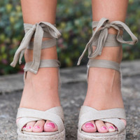 Height Of Happiness Wedges, Tan