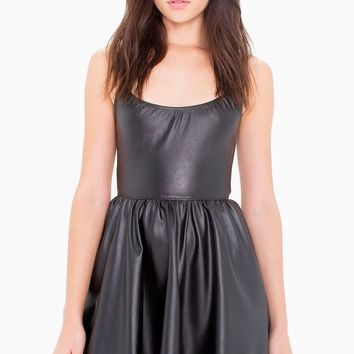 Vegan Leather Figure Skater Dress | American Apparel