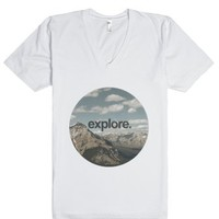 explore-Unisex White T-Shirt