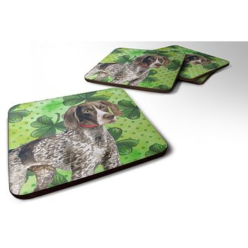 German Shorthaired Pointer St Patrick's Foam Coaster Set of 4 BB9815FC