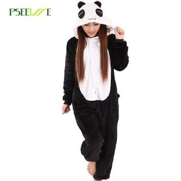 Women Pajama Flannel Panda Unicorn Cartoon Cosplay Adult Onesuit For Adults Animal Pajamas Adult Unicorn Pajamas Winter Onesuit