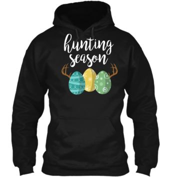 Hunting Season - Cute Bunny Funny Easter Shirt Pullover Hoodie 8 oz