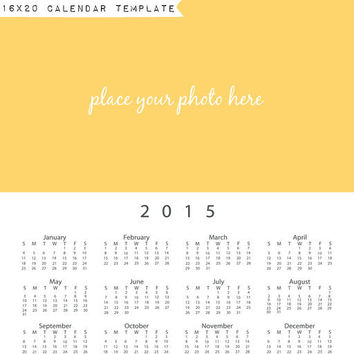 16x20, 2015, calendar, calendar template, photography, art, digital download
