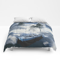 Forest sailing Comforters by happymelvin