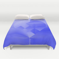 Danish Heart Blues Duvet Cover by Gréta Thórsdóttir#love #heart #girly #Christmas #blue #kids #ombre #pattern #bedroom