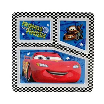 Disney Cars Kid's 9.5-in. Divided Plate by Jumping Beans (Blue)