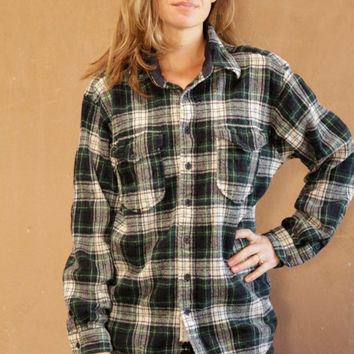 90s twin peaks PENDLETON wool vintage PLAID button down up blouse shirt
