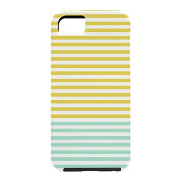 Allyson Johnson Mint And Chartreuse Stripes Cell Phone Case