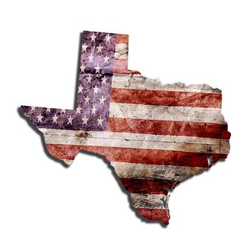 Texas Distressed Tattered Subdued USA American Flag Vinyl Sticker