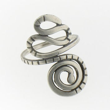 Handmade Sterling Silver Squiggle Ring