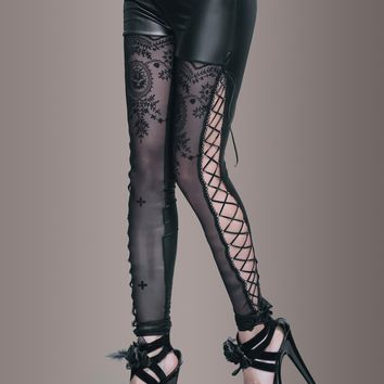 Black Moon Goth Leggings