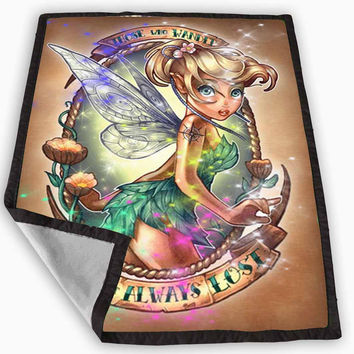 Disney Princess Tinker Bell tattooed Blanket for Kids Blanket, Fleece Blanket Cute and Awesome Blanket for your bedding, Blanket fleece *