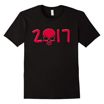 2017 with Red Skull T-shirt by Scarebaby