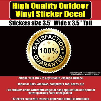 100% Satisfaction Guarantee Seal Business Sign Banner Vinyl Business Sticker Decal