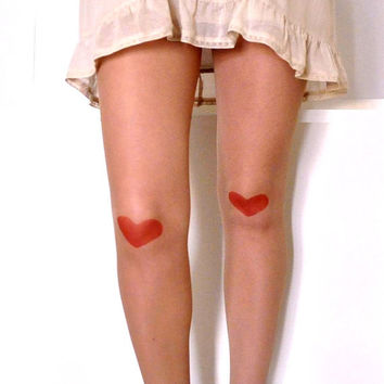 Tattoo tights - Red Heart