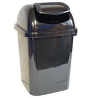 Lidded Corner Trash Can