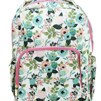 Canvas Backpack | Ivory Floral