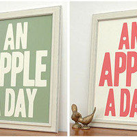 Retro To Go: An Apple A Day print by the Keep Calm Gallery