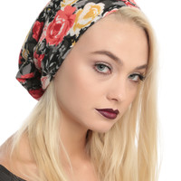 Floral Sublimated Beanie