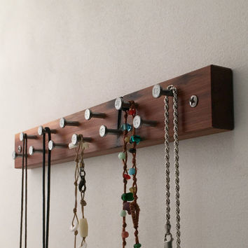 Rustic Recycled Wood Jewelry Rack,