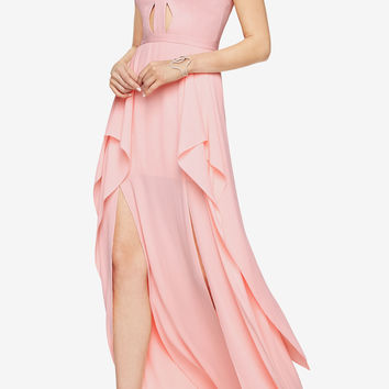 Juliana Cutout Ruffle Gown