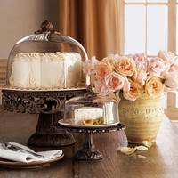 GG Collection Cake Dome & Pedestal and Cheese/Dessert Dome & Pedestal