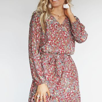 Worlds Changing Long Sleeve Floral Dress