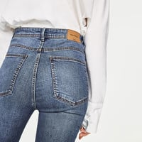 HIGH-RISE SKINNY FIT JEANS Blue - 29 (US 8)
