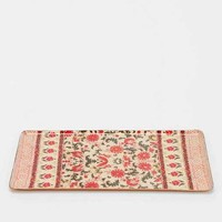 Magical Thinking Palace Floral Vanity Tray- Red Multi One
