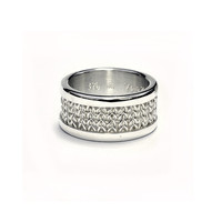 Fine silver woven ring or wedding band