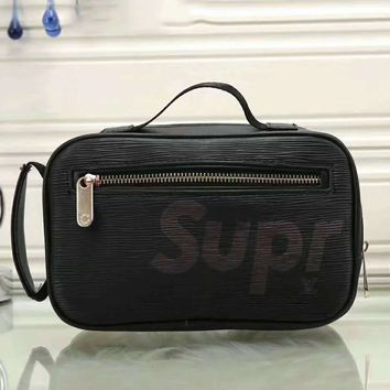 LV x Supreme Fashion Leather Daypack Travel Bag G-LLBPFSH