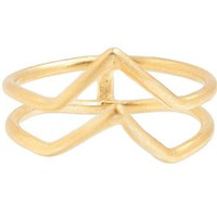 Gold Double Arrow Ring