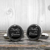 Wedding Cufflinks - FATHER of the GROOM - Very elegant cuff links