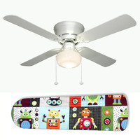 """Robot 42"""" Ceiling Fan and Lamp"""