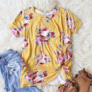 Dusty Miller Tee in Mustard