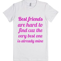 Best Friends-Female White T-Shirt