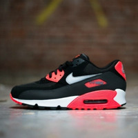 AIR MAX 90 CASUAL WOMEN'S PINK RUNNING SHOES Black&Red