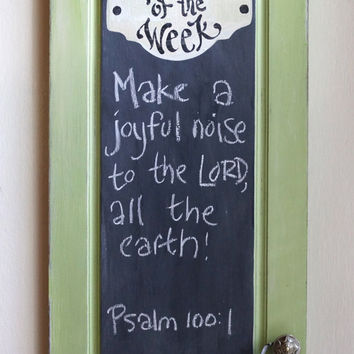 Green Verse of the Week Chalkboard - Scripture Memory - Bible Verse