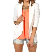 Ivory Open Front Blazer