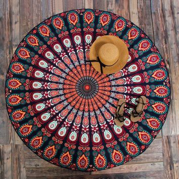 New Peacock Mandala Tapestries Hippie Tapestries Wall Art Hippie Indian Fashion