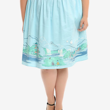 Star Wars Naboo Landscape Woven Circle Skirt Plus Size