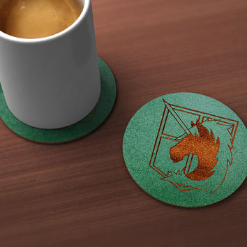 Attack on Titan Military Police Geek Drink Coaster