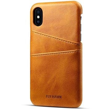 ONETOW Iphone X/Iphone 10, 5.8 inches, Wallet Phone Case, Slim PU Leather Back Case Cover With Credit Card Holder for Men Women