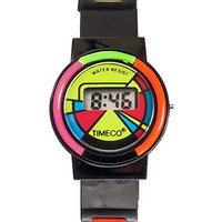 American Apparel - Timeco Black & Neon Digital Watch