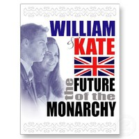 William & Kate - Future of the Monarchy Postcard from Zazzle.com