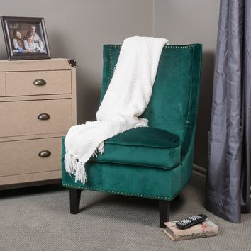 Geneva Velvet Accent Chair