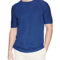 Billy Reid Men's Thermal Cotton Crewneck Sweater - Blue -